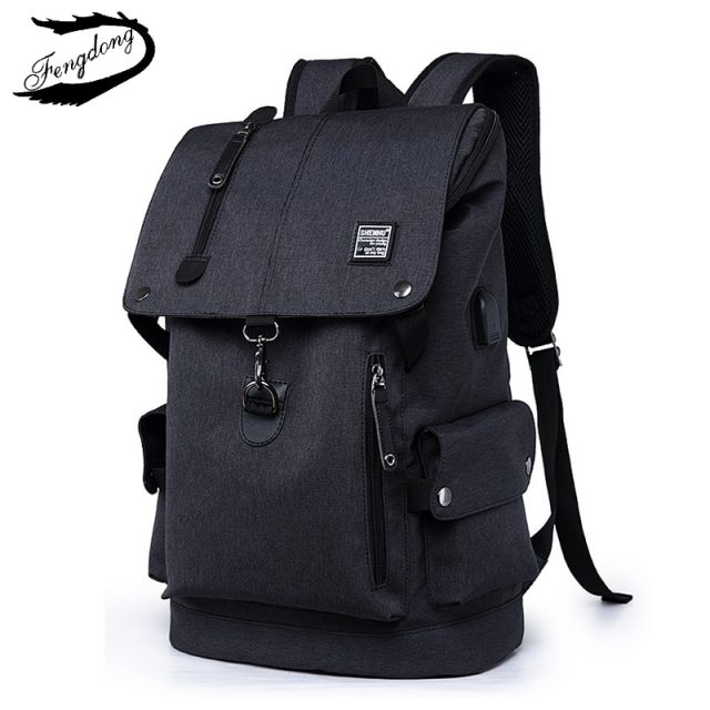 Stylish Multi-Space Men's Travel Laptop Backpack with USB