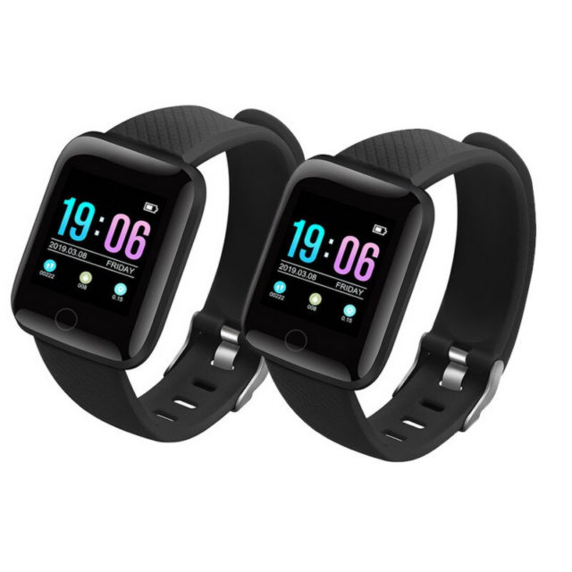 Fitness Smart Watch with Blood Pressure Set 2 Pcs