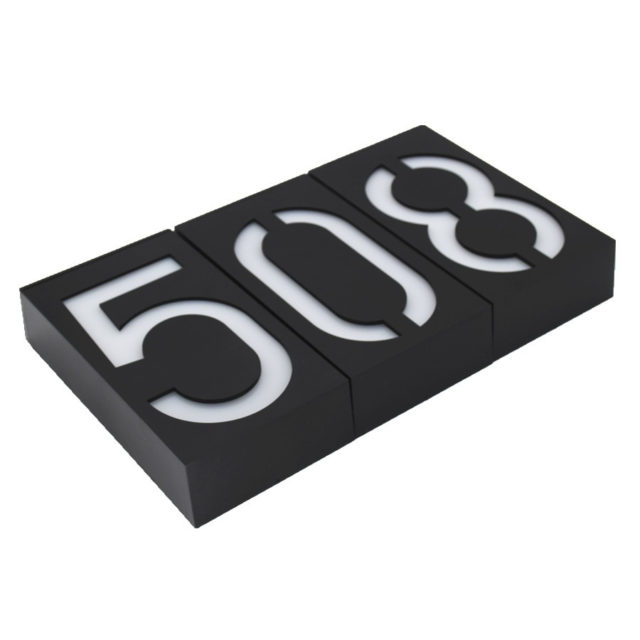 Luminous House Number Solar Energy Outdoor Wall Lamp
