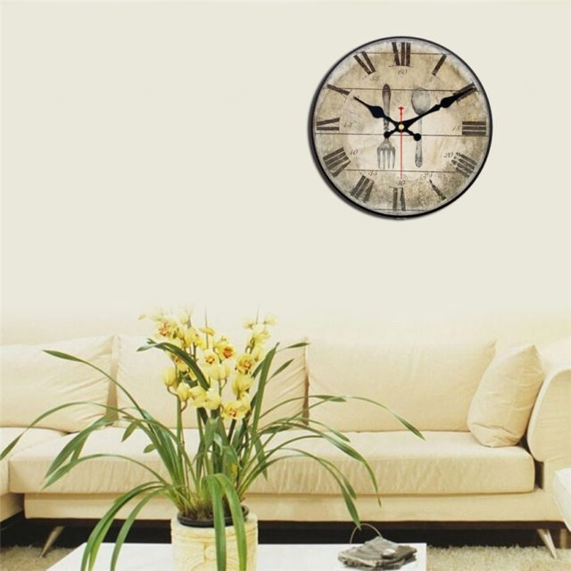 Vintage Food Printed Wall Clock