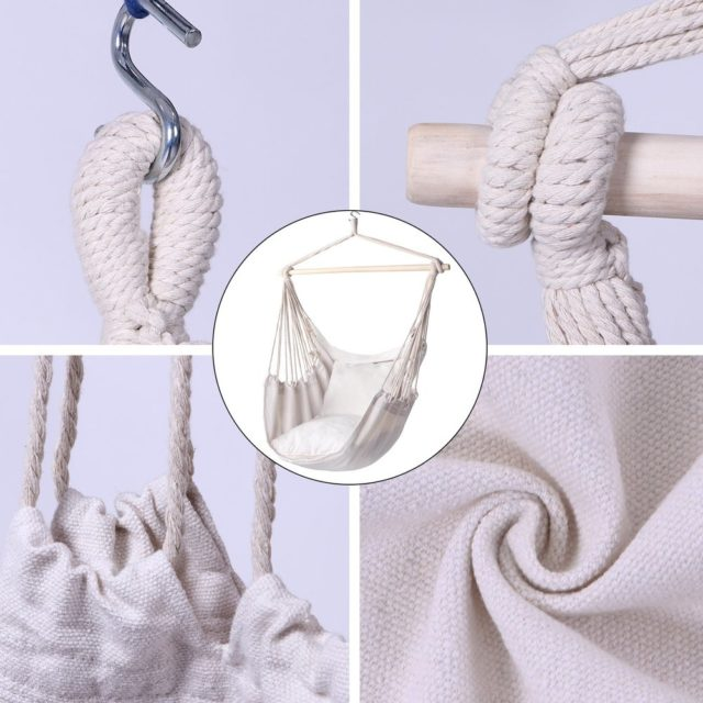 Childs Hanging Chair with Rope for Garden